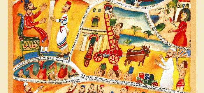 Parasha Miketz – Parashot Miketz - THIS WEEK'S Parasha n.10 Jewish Art , The Studio in Venice by Michal Meron – The Illustrated Torah Scroll