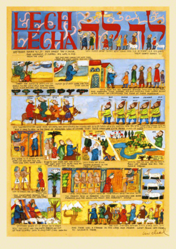 Parasha Lech Lecha – Parashot Lech Lecha - THIS WEEK'S Parasha n.03 Jewish Art , The Studio in Venice by Michal Meron – The Illustrated Torah Scroll