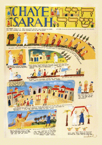 Parasha Chaye Sarah – Parashot Chaye Sarah - THIS WEEK'S Parasha n.05 Jewish Art , The Studio in Venice by Michal Meron – The Illustrated Torah Scroll