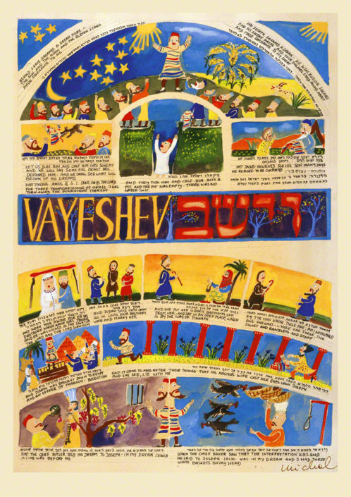 Parasha Vayeshev – Parashot Vayeshev - THIS WEEK'S Parasha n.09 Jewish Art , The Studio in Venice by Michal Meron – The Illustrated Torah Scroll