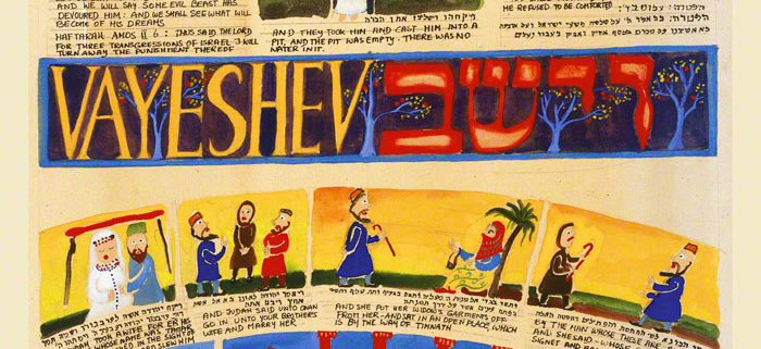 Parasha Vayeshev – Parashot Vayeshev - THIS WEEK'S Parasha n.09 Jewish Art , The Studio in Venice by Michal Meron – The Illustrated Torah Scroll