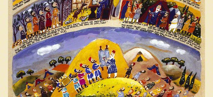Parasha Vayelech – Parashot Vayelech Parasha Vayelech - THIS WEEK'S Parasha n.53 Jewish Art The Studio in Venice by Michal Meron – The Illustrated Torah Scroll