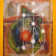 a tree of life to those who hold on it Jewish Abstract Painting Kabbalah Symbols