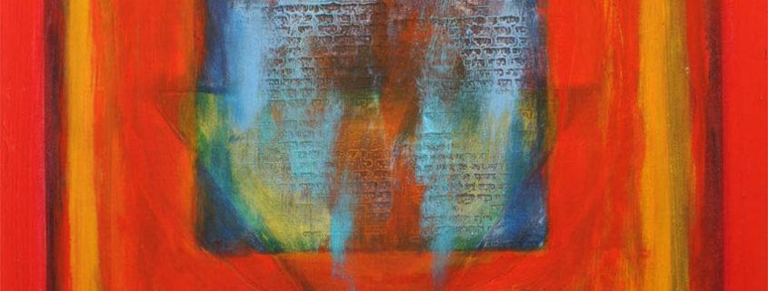 Jewish Abstract Painting Kabbalah Symbols Creation Waters