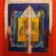 Jewish Abstract Painting Kabbalah Symbols Psalm 150