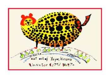 Yayoi Kusama cat - Artistic Caz Michal Meron The Studio in Venice