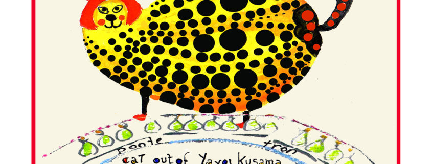 Yayoi Kusama cat - Artistic Caz Michal Meron The Studio in Venice