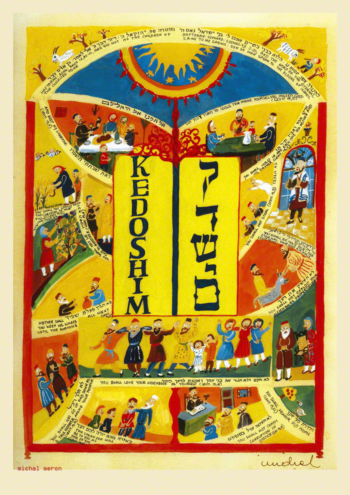 Parasha Kedoshim – Parashot Kedoshim - THIS WEEK'S Parasha n.31 Jewish Art - The Studio in Venice by Michal Meron – The Illustrated Torah Scroll