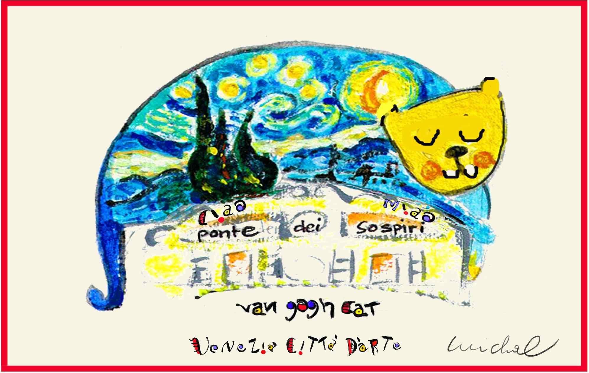 The Studio in Venice by Michal Meron - Artistic Caz - Van Gogh single